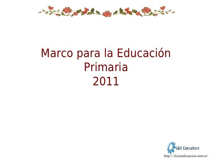 Dise o curricular primaria 2011 for Diseno curricular primaria