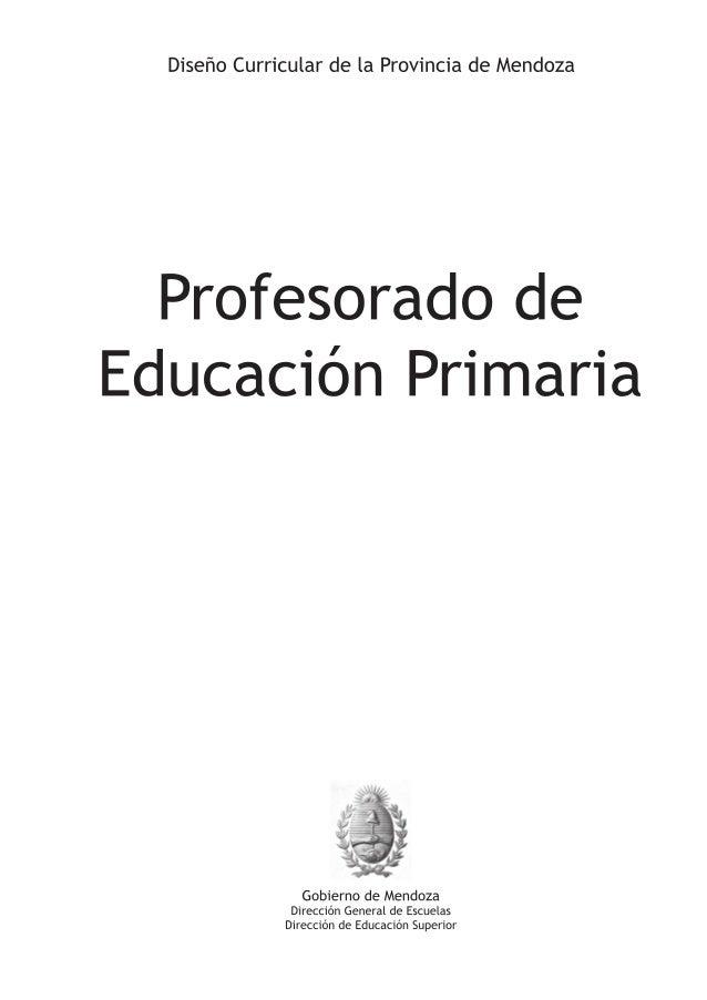 Dise o curricular profesorado educprimaria 1 for Diseno curricular primaria