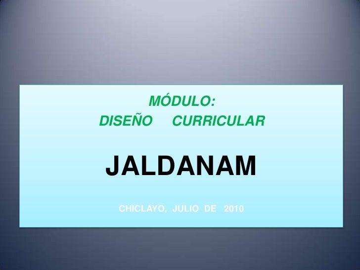 Diseño curricular sesión 1