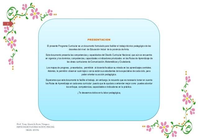 Diseño curricular y rutas de aprendizaje en el nivel inicial Slide 2