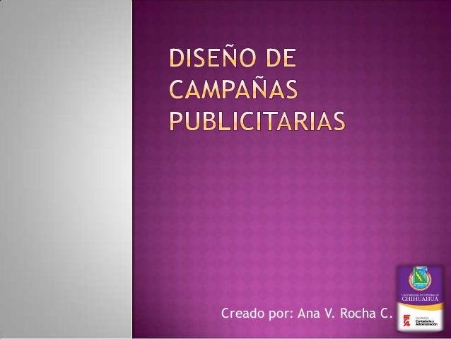 diseño de campañas publicitarias (presentacion slideshare)