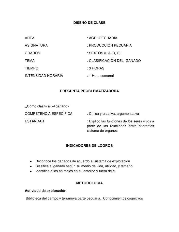 DISEÑO DE CLASEAREA                                   : AGROPECUARIAASIGNATURA                             : PRODUCCIÓN PE...