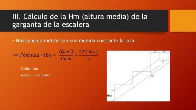 Dise o de escaleras de concreto armado for Formula escalera