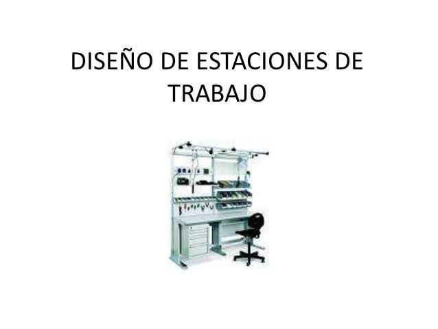 Dise o de estaciones de trabajo for Estacion de trabajo