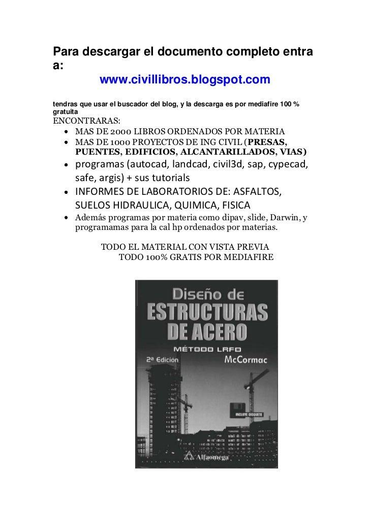 Para descargar el documento completo entraa:       www.civillibros.blogspot.comtendras que usar el buscador del blog, y la...