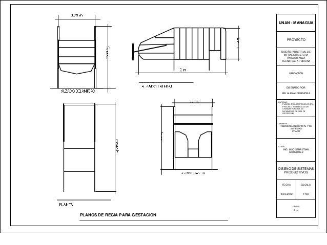 Dise o de granja porcinas for Pie de plano arquitectonico pdf