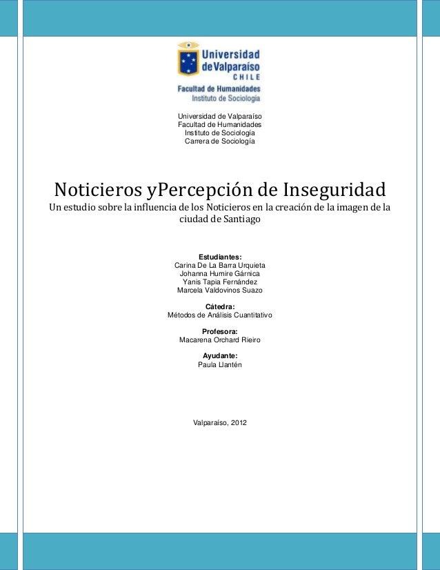 Universidad de Valparaíso                               Facultad de Humanidades                                 Instituto ...
