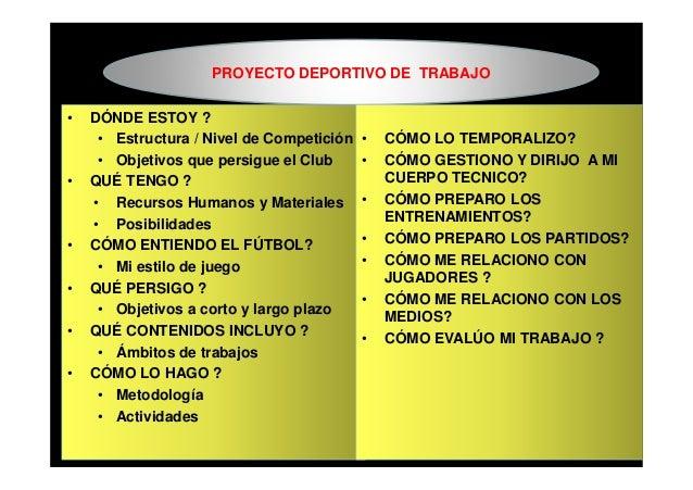 Dise o del proyecto deportivo del entrenador de f tbol - Proyecto club deportivo ...