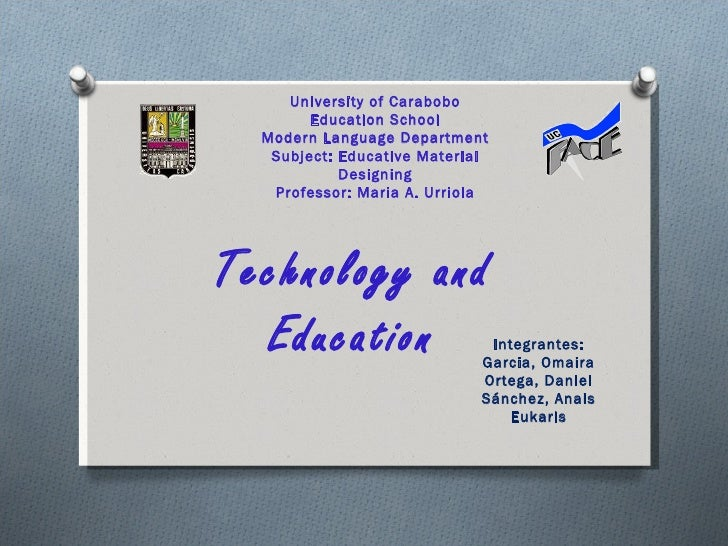 University of Carabobo        Education School  Modern Language Department   Subject: Educative Material            Design...