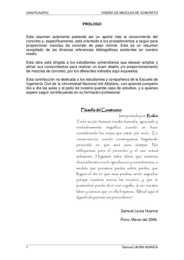Dise o de mezclas de concreto universidad nacional del for Diseno de interiores universidad publica