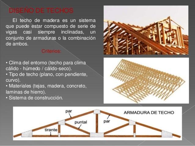 Dise o de miembros estructurales de madera for Materiales para techos de madera