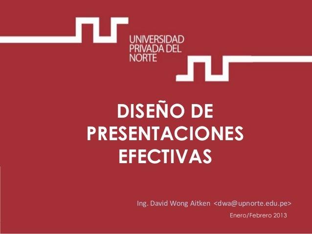 Dise o de presentaciones efectivas for Diseno de diapositivas