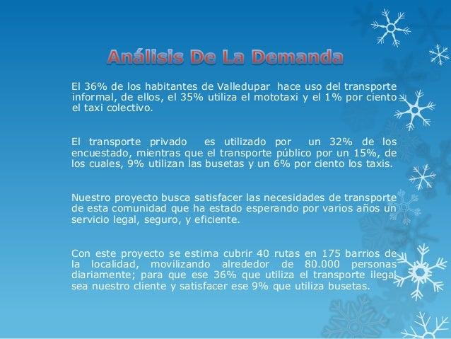 El 36% de los habitantes de Valledupar hace uso del transporteinformal, de ellos, el 35% utiliza el mototaxi y el 1% por c...