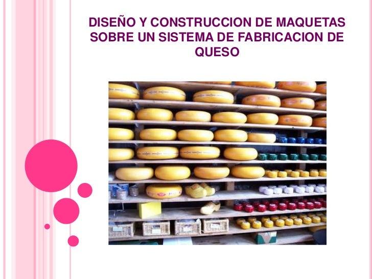 DISEÑO Y CONSTRUCCION DE MAQUETASSOBRE UN SISTEMA DE FABRICACION DE              QUESO
