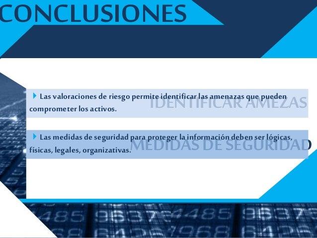 RECOMENDACIONES Actualización del documento depolíticas deseguridad de la UCLA. Diseñar un plan de concientización Dise...