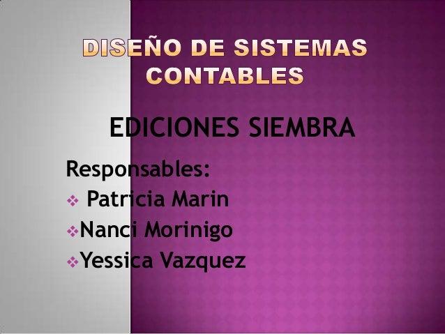 EDICIONES SIEMBRA Responsables:  Patricia Marin Nanci Morinigo Yessica Vazquez