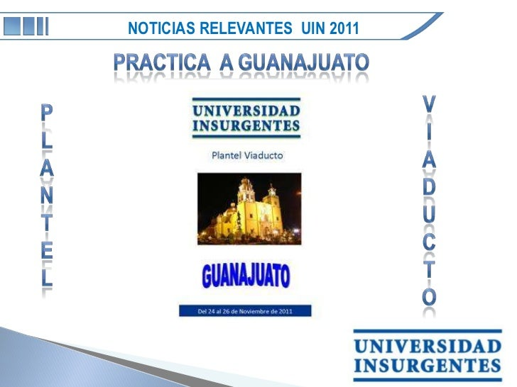 NOTICIAS RELEVANTES UIN 2011