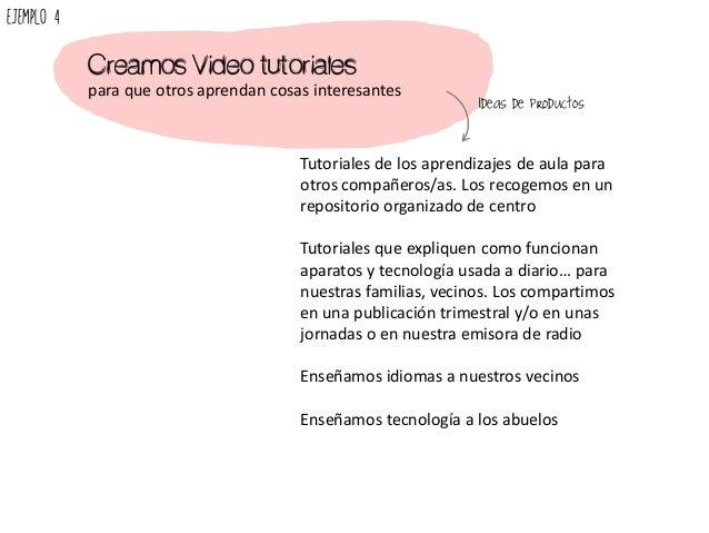 Creamos Video tutoriales para que otros aprendan cosas interesantes Tutoriales de los aprendizajes de aula para otros comp...