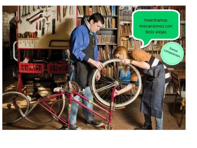 Inventamos mecanismos con bicis viejas