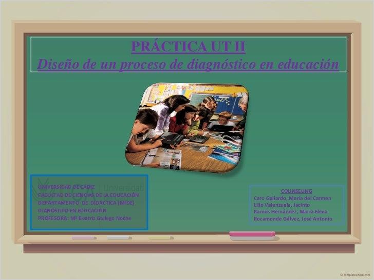 PRÁCTICA UT IIDiseño de un proceso de diagnóstico en educaciónUNIVERSIDAD DE CÁDIZ                                        ...