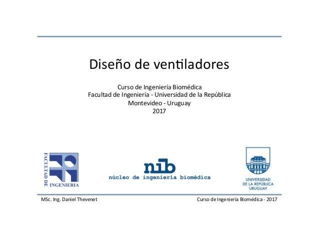 MSc.Ing.DanielThevenet CursodeIngenieríaBiomédica-2017 CursodeIngenieríaBiomédica FacultaddeIngeniería-...