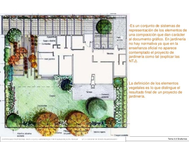 Dise o de zonas ajardinadas for Elementos de jardineria