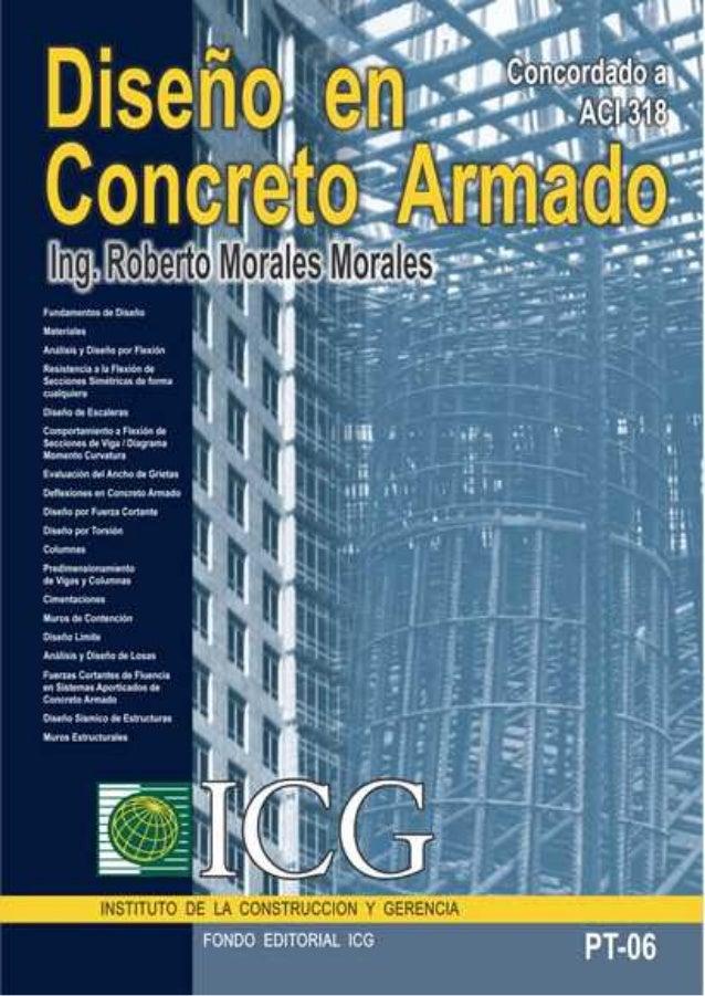 Dise O En Concreto Armado Ing Roberto Morales Morales