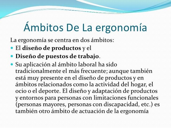 Dise o ergonomico for Caracteristicas de la ergonomia