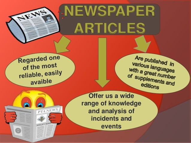 using newspaper articles in dissertation