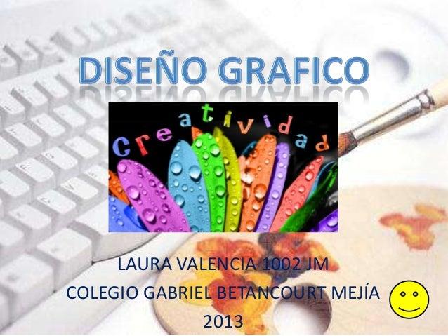 LAURA VALENCIA 1002 JMCOLEGIO GABRIEL BETANCOURT MEJÍA              2013
