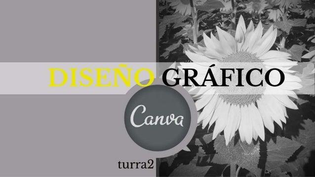DISEÑO GRÁFICO  con CANVA  @turra2
