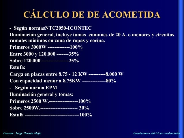 Normas de instalaciones electricas residenciales