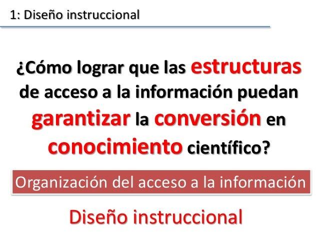 ¿Cómo lograr que las estructuras de acceso a la información puedan garantizar la conversión en conocimiento científico? 1:...