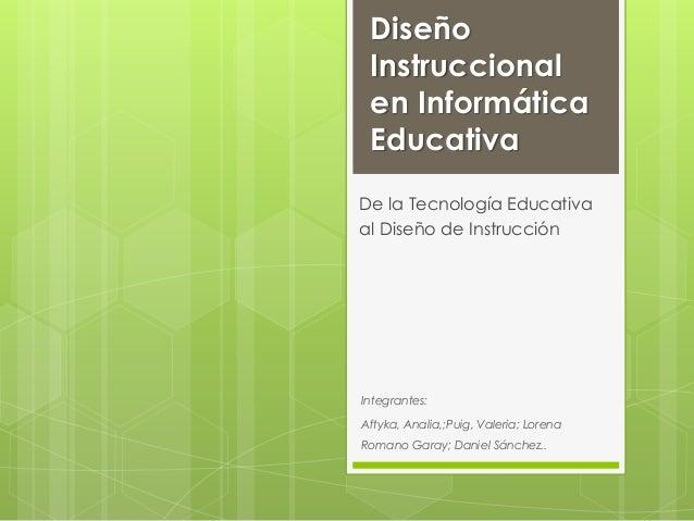 Dise o instruccional en inform tica educativa for Diseno arquitectonico informatica