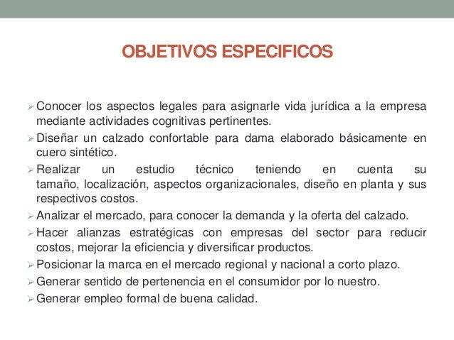 OBJETIVOS ESPECIFICOS  Conocer los aspectos legales para asignarle vida jurídica a la empresa  mediante actividades cogni...