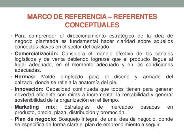 MARCO DE REFERENCIA – REFERENTES CONCEPTUALES • Para comprender el direccionamiento estratégico de la idea de  •  • •  • •...