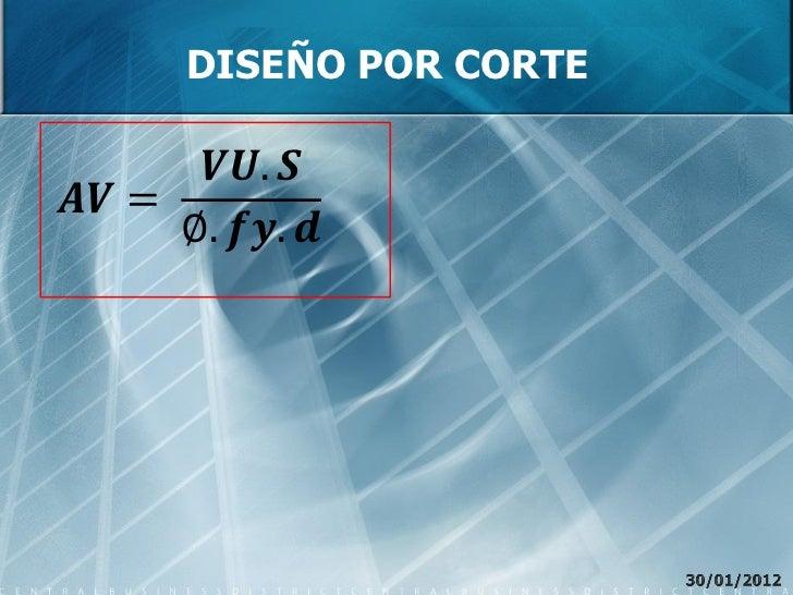 DISEÑO POR CORTE        ������������. ������������������ =       ∅. ������������. ������