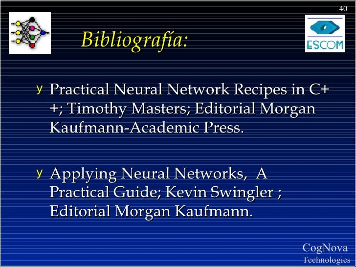 practical neural network recipes in c++ pdf