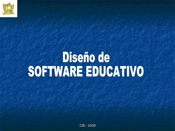Diseño de  SOFTWARE EDUCATIVO