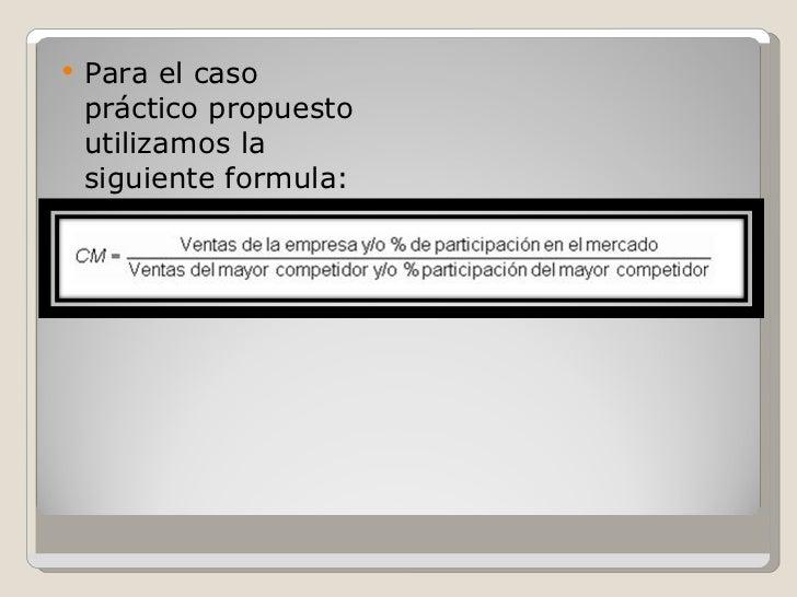 <ul><li>Para el caso práctico propuesto utilizamos la siguiente formula: </li></ul>