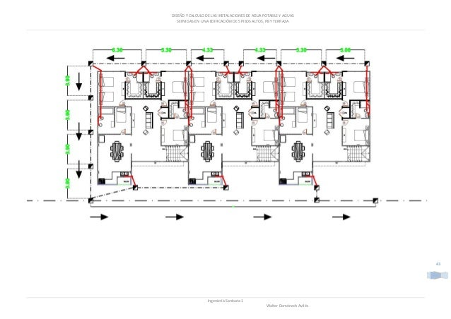 Worksheet. Diseo y calculo de las instalaciones de agua potable y agua servidas