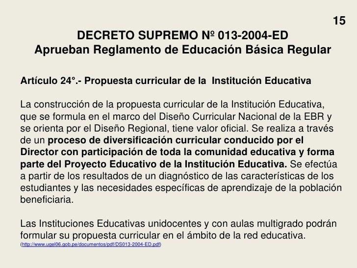 Dise o y diversificaci n curricular 2011 for Diseno curricular nacional 2016 pdf