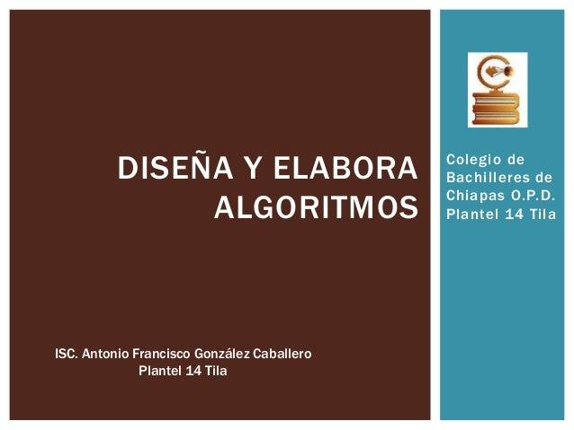 DISEÑA Y ELABORA                  Colegio de                                            Bachilleres de                    ...