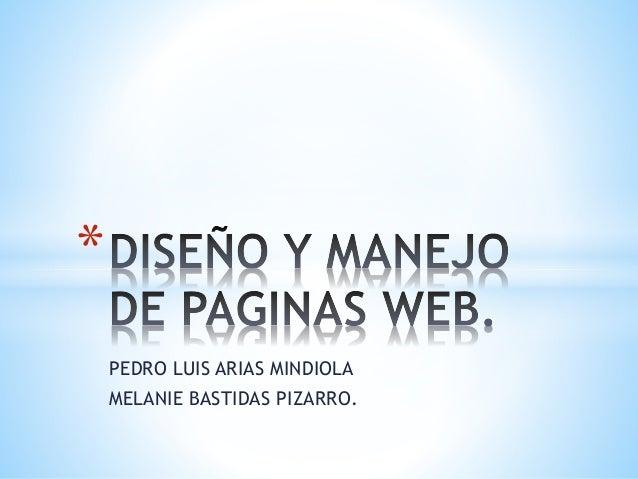 PEDRO LUIS ARIAS MINDIOLA MELANIE BASTIDAS PIZARRO. *