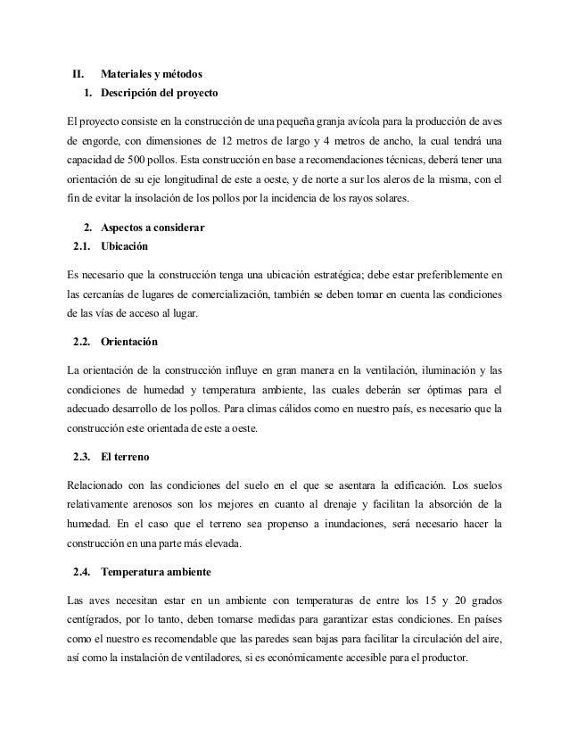 Dise o y presupuesto para la construccion de granja avicola for Presupuesto de obra de construccion pdf