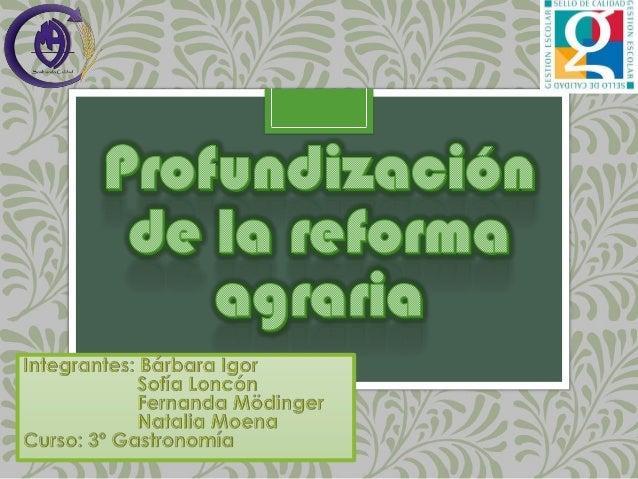 Disertación Alumnas - Profundización reforma agraria