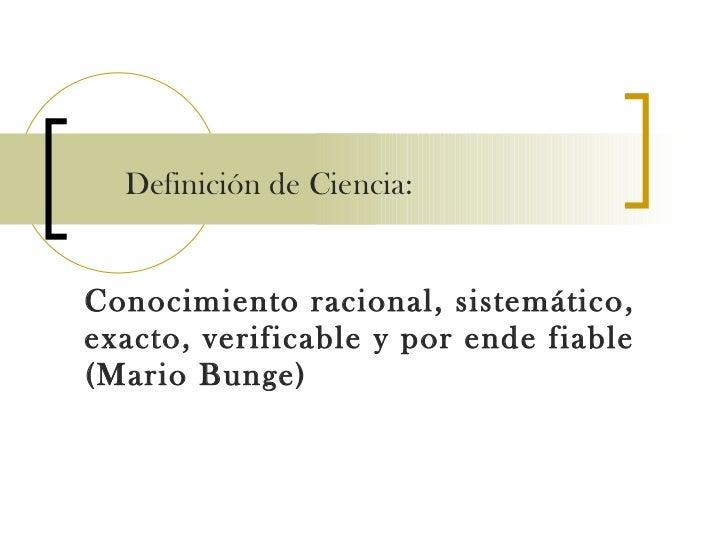 Disertacion la ciencia y su naturaleza epistemológica Slide 2