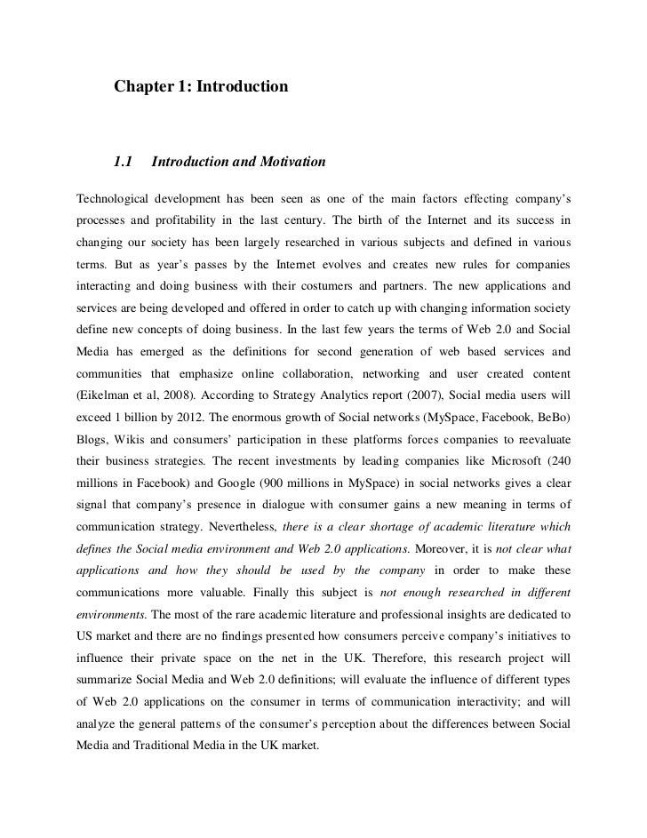 dissertation about social media