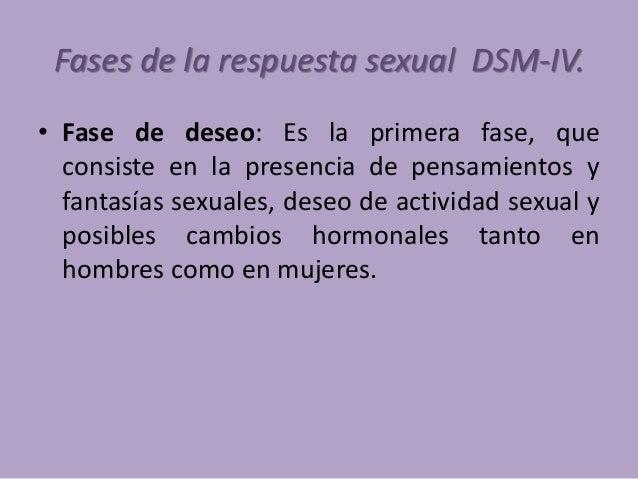Cambios fisiológicos en las 4 fases de la respuesta sexual (Master y Johnson, 1966; Labrador, 1994) • Fases Hombre Mujer D...
