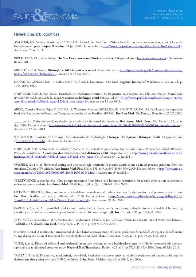 &  SAÚDE  ECONOMIA  Agência Nacional de Vigilância Sanitária | Anvisa Ano IV nº 07 | Janeiro de 2012  Referências bibliogr...